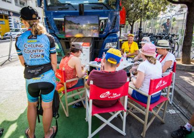 Vuelta Road Bike Tour VIP Area