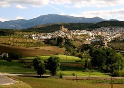Cycling in Alhama de Granada, Andalucia, Spain
