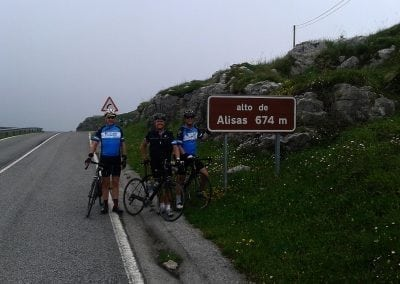 Alto de Alisas, Cycling in North Spain