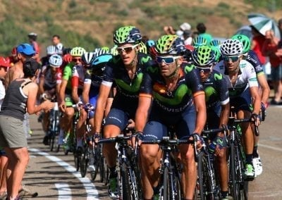 Vuelta Road Bike Tour cycling the Camperona Stage Movistar