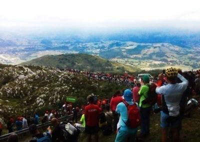 Cycle La Vuelta Stages - Peña Cabarga Crowds
