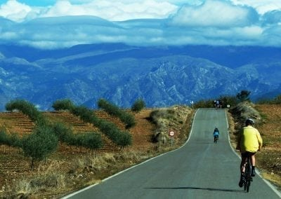 Cycling to Granada, Andalucia