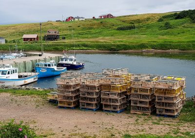 Cycling Nova Scotia - lobster Traps