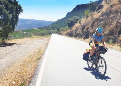 Cycling in the Douro's wine making region