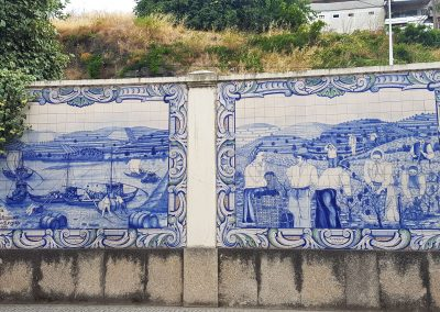 Douro Tiles showing Winemaking