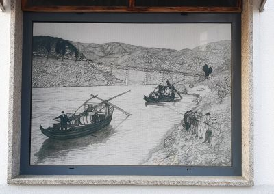 Painting about the Douro boats